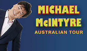 MICHAEL McINTYRE - SYDNEY - 2x TICKETS - SAT 23rd MAR 2019 - SOLD OUT SHOW