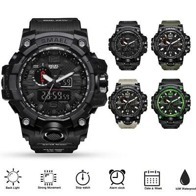 Men's Digital Sports Watches Waterproof LED Backlight Quartz Wristwatches Watch