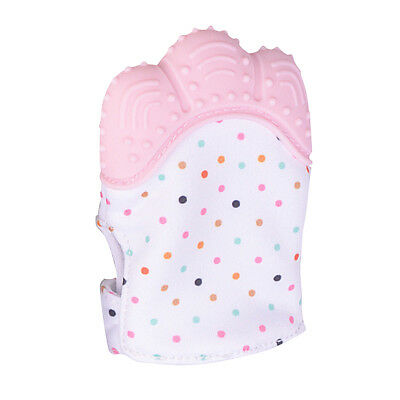 Silicone Baby Mitten Teething Glove Candy Wrapper Sound Toy Gifts