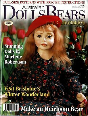 AUSTRALIAN DOLLS BEARS & COLLECTABLES MAGAZINE Vol 5 No 5 FULL SIZE PATTERNS NEW