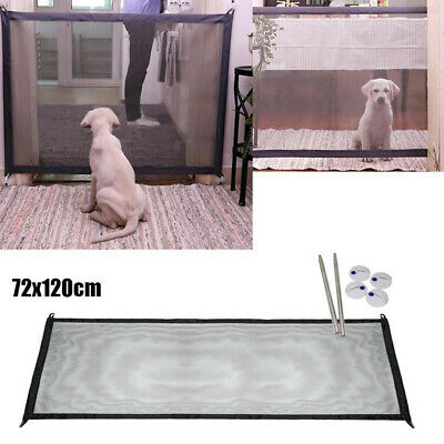 Protect Portable Magic Gate Folding Safety Guard For Pets Dog Cat Isolated Gauze