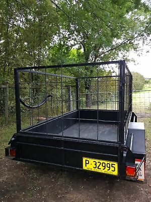 Box trailer 7x4 with cage