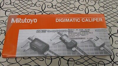 "Mitutoyo Absolute Digimatic 8"" Caliper CD-8"" CSX 500-197-20 w/ Case New Battery"