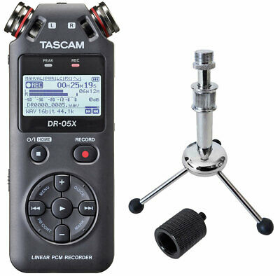 Tascam DR-05X Audio-Recorder + keepdrum Tripod Stativ + Stativadapter