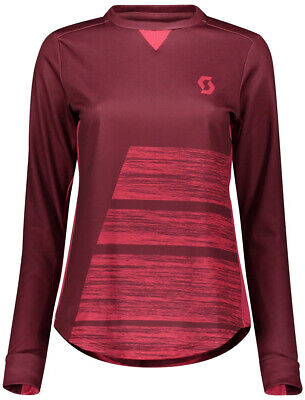 Scott Trail AS Long Sleeve Womens Cycling Jersey - Red