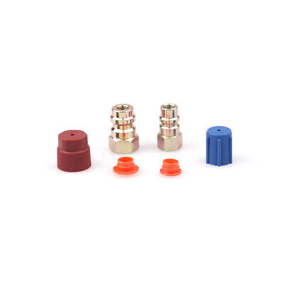 """AC Fitting Port R12 to R134A Quick Couplers Adapters  7/16""""(LOW) 3/8"""" (HIGH)"""