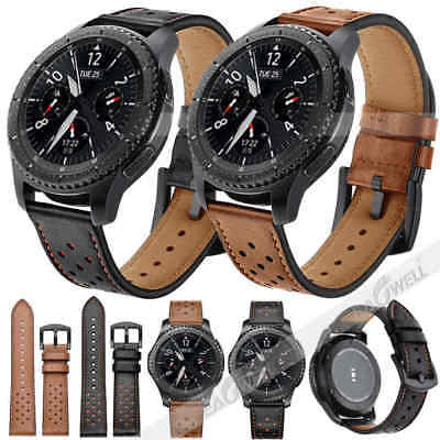 AU Leather Watch Band Strap For Samsung Galaxy Watch 42mm 46mm S3 Frontier Sport