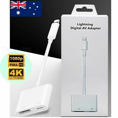 Lightning Digital AV Adapter to HDMI Cable for Apple iPhone Xs XR X 8 7 6S iPad
