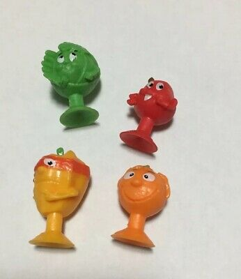 Coles stikeez Apple Orange Capsicum Lettuce NEW LOT OF 4