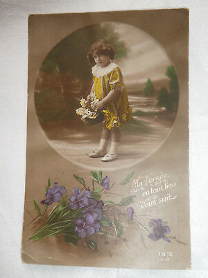 Vintage French Post Card( Army  PostOffice  passed Field Censor stamped)