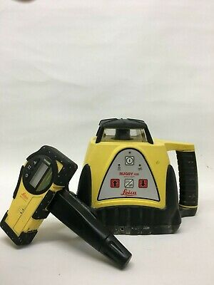 Leica Rugby 100 rotating laser with Rod Eye Basic Detector