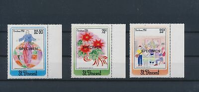 LJ79049 St Vincent specimen 1985 christmas edges MNH