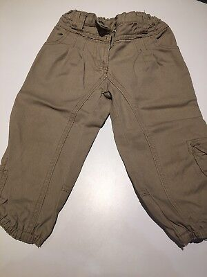 OUCH - Boys beige cargo pants with adjustable waist - size 2 years