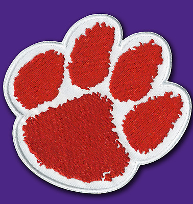 "🏈 4"" CLEMSON TIGERS Tiger Paw Team Logo Iron-on Jersey PATCH! - TREVOR LAWRENCE"