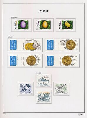 XB41742 Sweden 2001 birds animals coins currency used