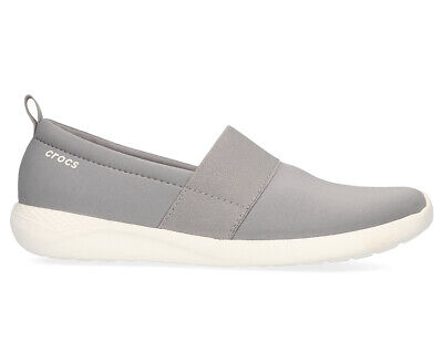 Crocs Women's LiteRide Slip-On Shoe - Light Grey/White