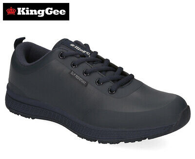 KingGee Women's Superlites Lace-Up Shoe - Navy