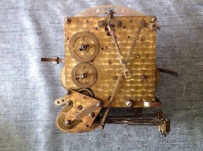Antique Smiths Clock Movement 3 Train Westminster Whittington Nine Chime 13x12cm