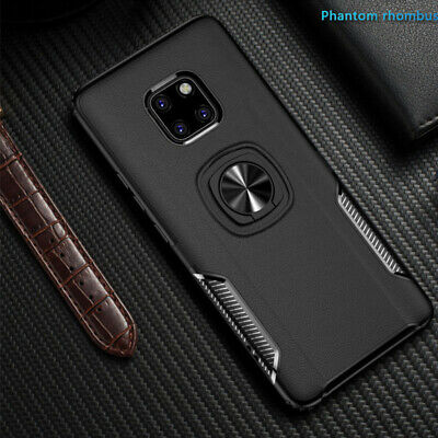 Case For Huawei P20 Mate 20 Pro Lite Metal Magnetic Car Ring Holder Buckle Cover