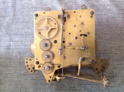 Antique Haller Clock Movement 9 Chime Westminster To Repair Or Spare Parts