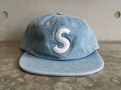 69be49cf5eb SUPREME WASHED CHAMBRAY S Logo 6 Panel Cap - Blue -  156.54