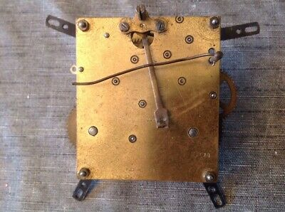 Antique Clock Movement Chiming 8x9cm Plates For Spare Parts Repair