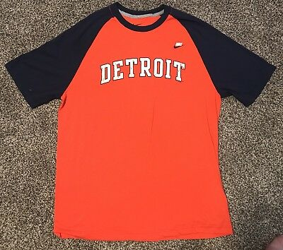 Nike Detroit Tigers Baseball T-Shirt Men s Orange Regular Fit Tee MLB XL c3abad232