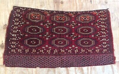 Antique Fine Turkmen Saryk Handwoven Juval Nine Gul Rug