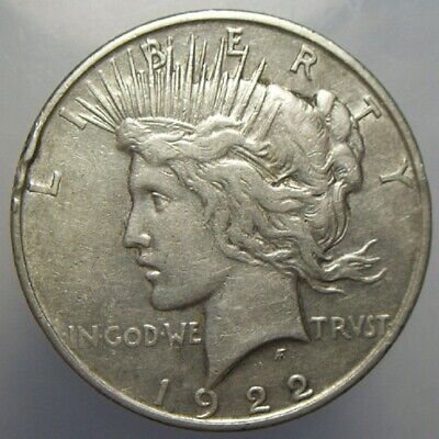 1922-D $1 Peace Dollar Silver US Circulated Nicer Details Collectible Coin