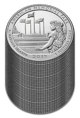 "2019 ""S"" ATB American Memorial Park, Clad Quarter, Proof, Roll/Lot of 40"