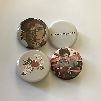 """Shawn Mendes Buttons Pins 1.25"""" The Album Set Of 4"""