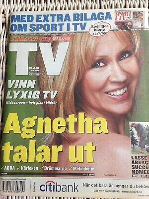 ABBA Agnetha T V magazine 2004 Absolute mint condition