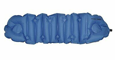 Klymit Cush Inflatable Pillow & Seat Cushion, Blue / Gray - 12CUBG01