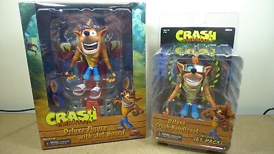 NECA Bandicoot Deluxe Crash with Jetpack 7 Scale Action Figure Brown 41053