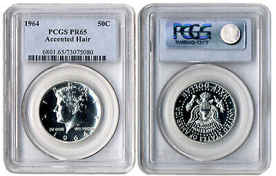 1964 Accented Hair Proof Kennedy Half Dollar 50C PCGS PR65 Certified Graded .50