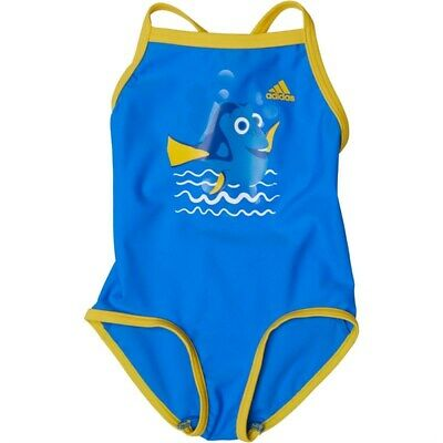 adidas Infant Girls Disney Nemo Swimsuit Shock Blue/Orange Swimwear AJ7788