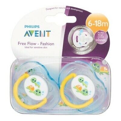 Philips Avent BPA Free Extra Airflow Pacifiers, 2 Ct 6-18m, Blue Turtle Design