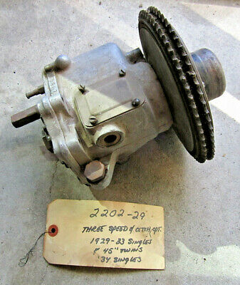 "Genuine Harley Davidson 45"" Twin And Harley Single 3 Speed Transmission & Clutch"