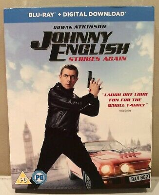Johnny English Strikes Again Blu Ray + Digital Download New & Sealed