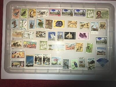 Botswana Stamps-unchecked collection