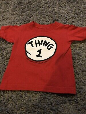 Universal Studios Thing 1 T-shirt Age 3. WORLD BOOK DAY