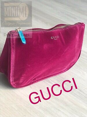 d3620641d17c 🆕💝💖💝Gucci Beauty Burgundy Red Velvet Travel Pouch Make Up Bag Cosmetic  Bag