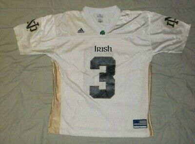 2ce169881c5b NWT ADIDAS NCAA Notre Dame Fighting Irish  5 YOUTH Premier Football ...
