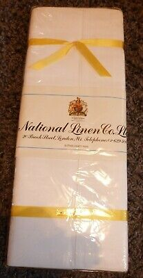 Vintage Finest Egyptian Cotton Bed Linen. National Linen Co Ltd. White 180 X 275