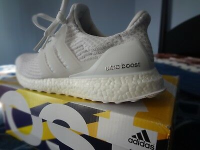 285ebdc66  BA7686  Womens ADIDAS Ultraboost 3.0- Triple White Ultra Boost Sneaker