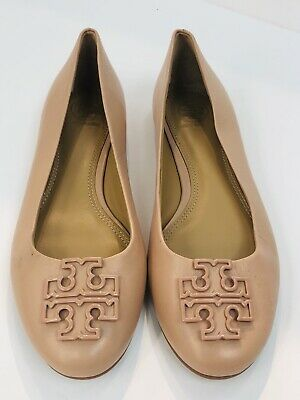 0c4c3d6142a2 NEW TORY BURCH Melinda Leather Flats Shoes Ballerina Light Makeup Size 6