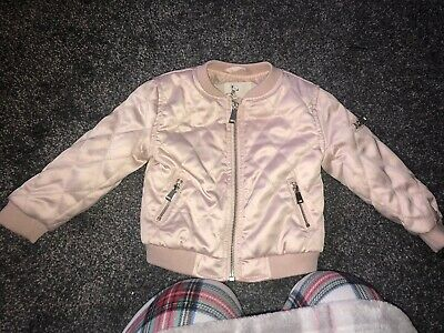 Baby Girl River Island Bomber Jacket 9-12 Months