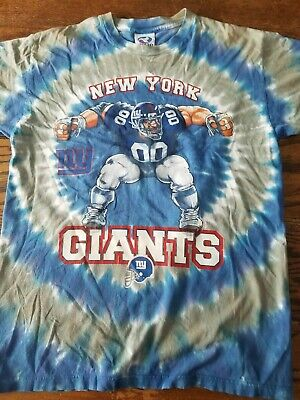 1fc7688d2 RARE Vintage Liquid Blue New York Giants NFL Tye Dye T-Shirt Mens Med USA