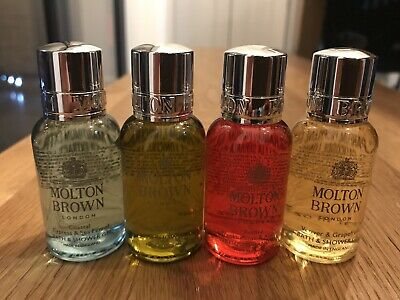 Molton Brown 4 X  30ml Travel Size Body Wash And Hand Wash