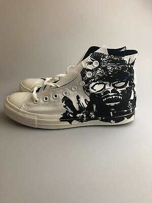 615c775819a818 Mens Converse Chuck Taylor CT Skulls High White Black 1000029F Limited  Vintage